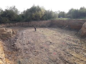 Digging for waste