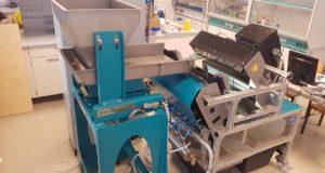 Figure 2: Sensor based sorting machine at the AVAW, Montanuniversitaet Leoben