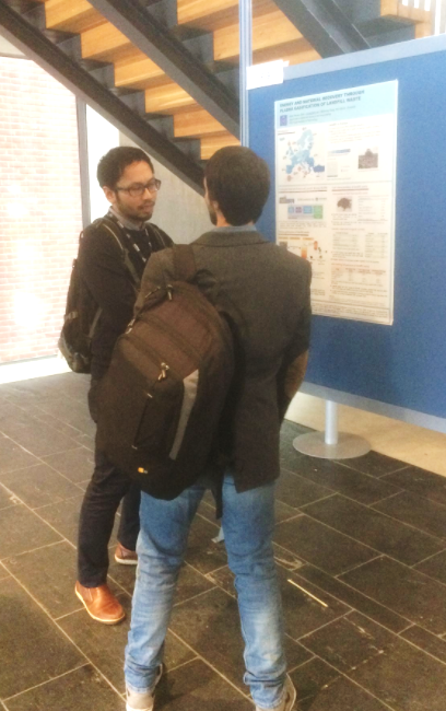 Presenting my poster about NEW-MINE project