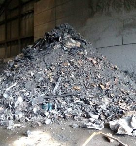 Fig. 3: Deposit of municipal solid waste incineration bottom ash. AVR incineration plant (the Netherlands).